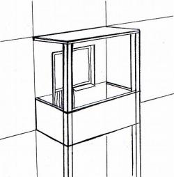 Рис. 1. Балкон на столбах