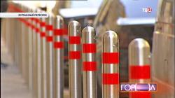 В центре столицы устанавливают ограничительные столбики