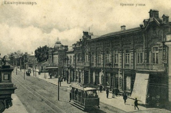Уходящий поезд Екатеринодара