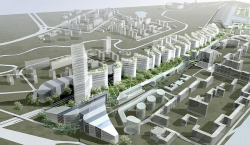 Pre-project concepts on development of over-rail space of Kiev line of Moscow railway from the 3d hoist ring up to Minskaya street