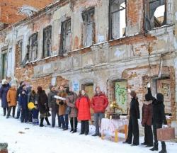 В Брянске прошел перфоманс в защиту дома Боровича