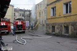 Пожар в бывшей резиденции губернатора