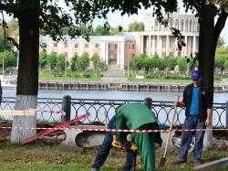 В Твери начались реставрационные работы на набережной Степана Разина