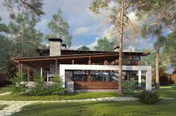 Проект загородного дома Forester shack