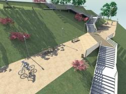 В Барнауле представлен новый проект лестницы в Нагорном парке