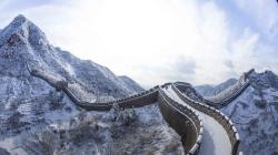 Великая Китайская стена покрылась снегом — захватывающее зрелище