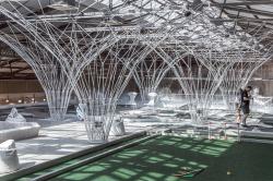 Инсталляция «Лес» для центра мини-гольфа и крокета