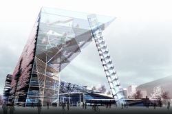 "Cultural and business centre ""Meteor"" with ice stadium"