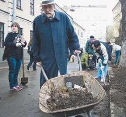 Протест с лопатами наперевес