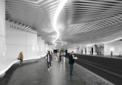 Архитектурная концепция станции метро «Нижние Мневники»