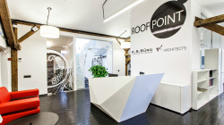 Интерьер медийной площадки Roof Point
