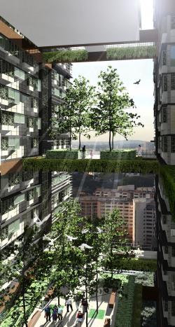 Жилой дом Duxton Plain в Сингапуре – конкурсный проект