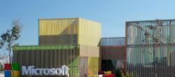 Временный павильон компании Microsoft в Олимпийском парке Сочи