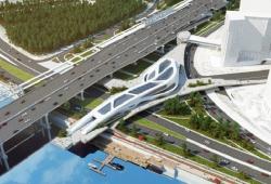 Мост-галерея, связывающий «Москва-Сити», МЦК и Пресненскую набережную