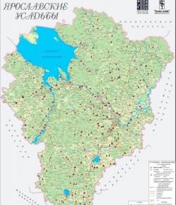 Создана карта старинных усадеб Ярославской области