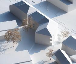 Многофункциональное здание в Мерене (Швейцария). Конкурсный проект. 2014 © Jan Skuratowski Architektur