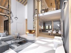 Интерьерные решения индивидуального жилого дома в Шлиссельбурге