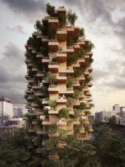 Деревянная башня Tree Tower Toronto