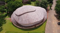 Бамбуковый спортзал Международной школы Паньяден