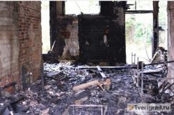 В центре Твери пожар уничтожил памятник архитектуры