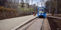 Первая платформа венского типа для остановки трамваев появилась в Москве