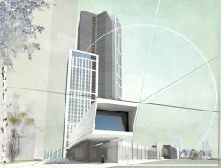 Главный архитектор Новосибирска показал облик первого в городе небоскреба