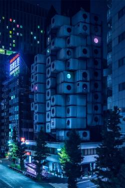 Фотограф снял пейзажи Токио в духе «Бегущего по лезвию»