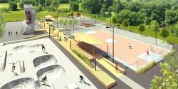Велодорожки и спортивные площадки: какой будет Строгинская пойма после благоустройства