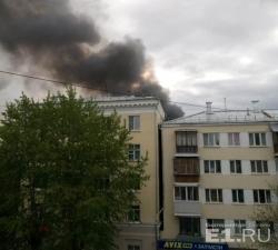 На проспекте Ленина запылал заброшенный корпус лестеха