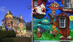 Почему шотландский замок расписали граффити, и чем чревата эта инициатива