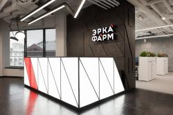 Интерьер офиса группы компаний «Эркафарм»