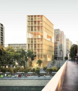Деревянный жилой дом Wood′Up в Париже. Проект