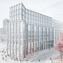 Barkow Leibinger. Здание с офисами и магазинами на Лейпцигер-плац в Берлине. Конкурсный проект. 2016
