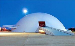 Оскар Нимейер. Национальный музей и библиотека в Бразилиа