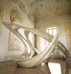 Инсталляция Lotus. Дизайн: Заха хадид