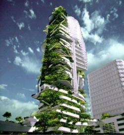 В Сингапуре построят «зеленый» небоскреб
