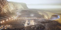 Каким будет первый город на Марсе: архитекторы показали план марсианского мегаполиса