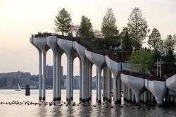 Парк в бетонных клумбах