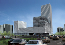 Business and hotel complex with underground car parking on 60-letia Oktyabrya street and Dmitry Ulyanov street