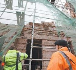 Царско-сталинский дом рухнул, задавив человека