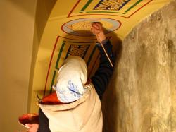 Завершение реставрации живописи Свято-Троицкой церкви (Ленинградская область, Ивангород)