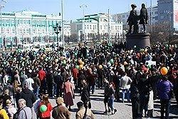 Храм ведет на улицу. Жители Екатеринбурга провели митинг против строительства церкви