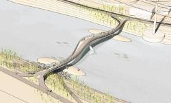 Пешеходный мост через ручей Фор-майл-ран