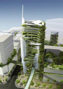 Башня Editt Tower, Сингапур, 2010 г. T. R. Hamzah & Yeang Sdn. Bhd.