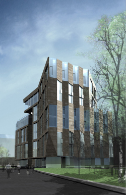 Apartment building in Bolshoi Suharevsky side street