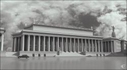 Конкурс на Большой Академический кинотеатр на площади Свердлова. 1936. (Современная визуализация)