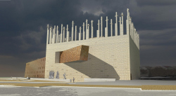 World War II museum in Gdansk. Contest project. Concept