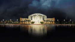 Здание Федерального Национального собрания - парламента ОАЭ