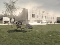 Дом культуры и библиотека в Нотоддене (Норвегия). Конкурсный проект