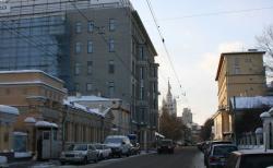 "Сняли леса на ""новом доме Баскакова"" на М.Никитской"